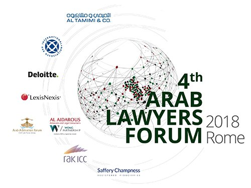 4th Arab Lawyers Forum, Rome, 5th-6th October 2018 –Open For Online Registration