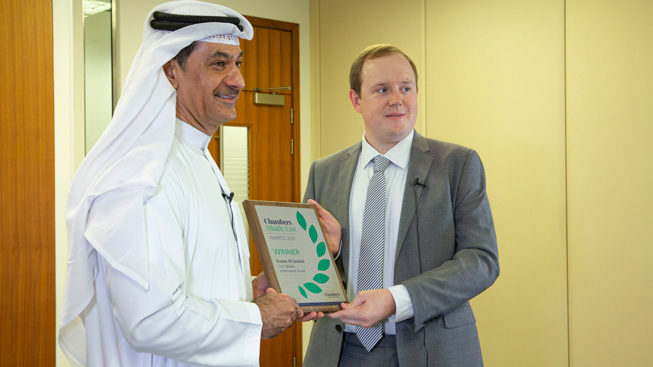 Essam Al Tamimi – Lifetime Achievement Award from Chambers and Partners