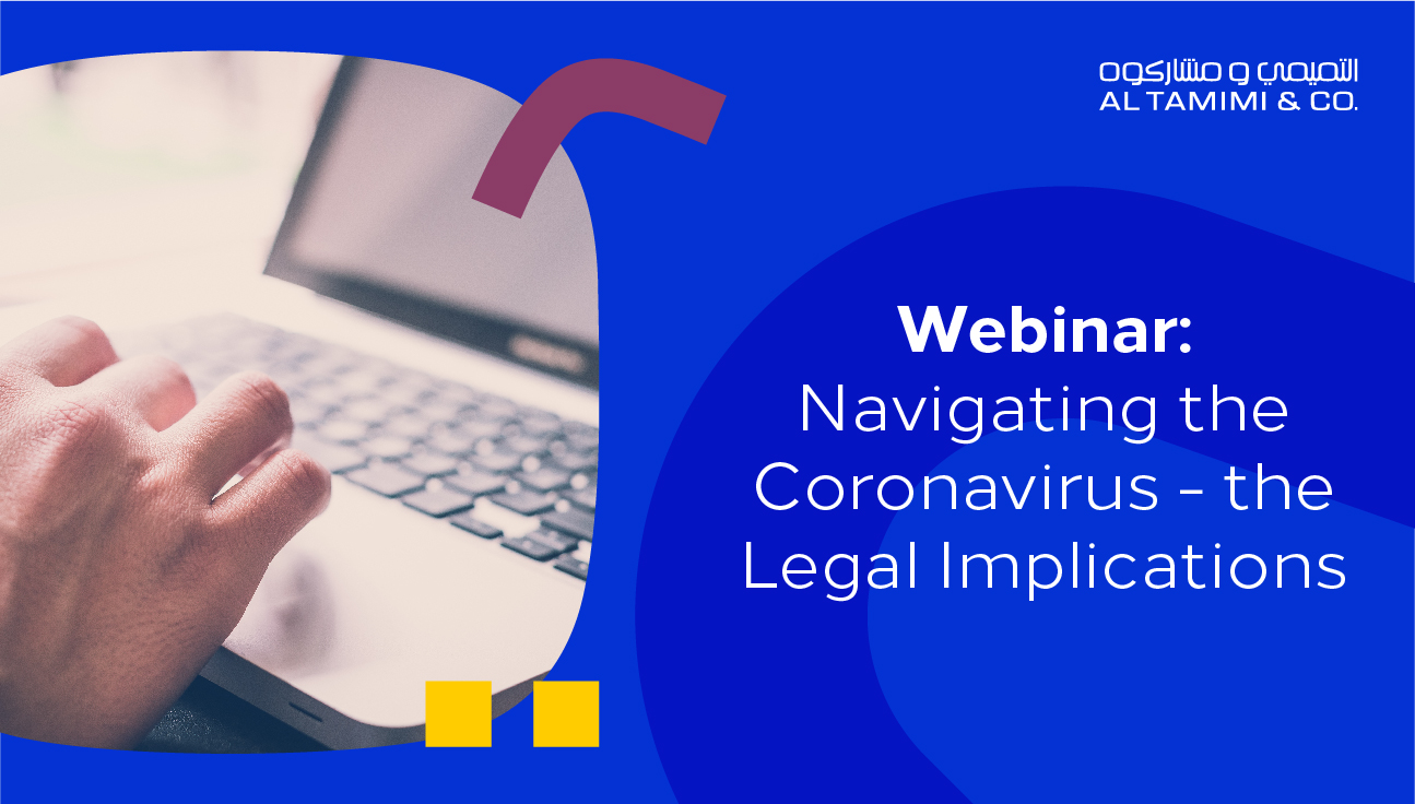 Webinar: Navigating the Coronavirus – the Legal Implications