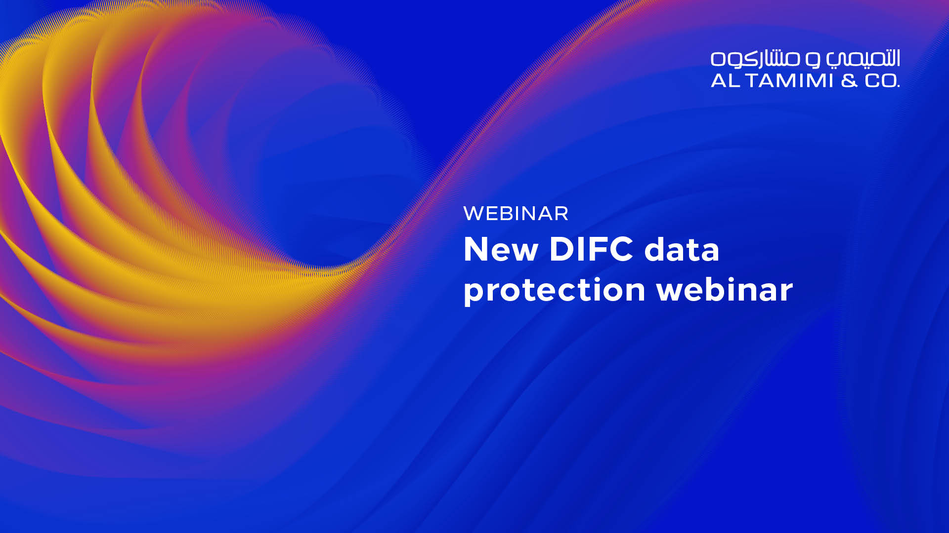 New DIFC data protection webinar